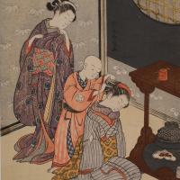 鈴木春信 「座舗八景 台子の夜雨」の画像