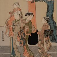鈴木春信 「風俗四季歌仙 神楽月」