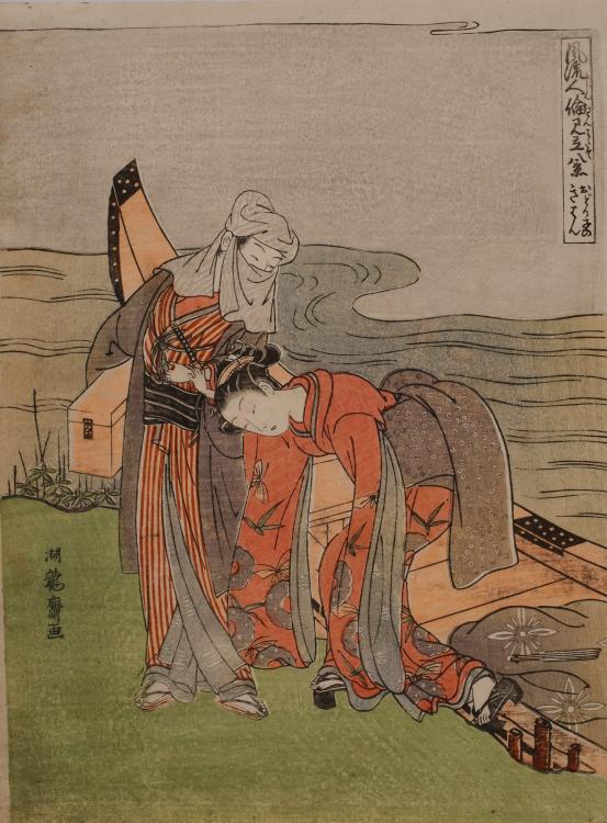 磯田湖龍斎 「風流人論見立八景 おどり子のきはん」の画像