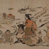奥村政信 「小姓さんろ 草かり笛(用明天皇故事)」の画像