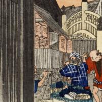 歌川広重「東海道五拾三次之内 日本橋 朝之景」